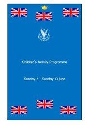 Children's Activity Programme Sunday 3 – Sunday 10 ... - Gleneagles
