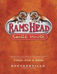 FOOD, FUN & BEER - Rams Head Group