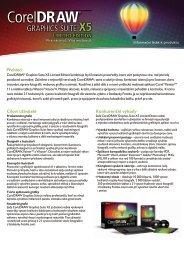 coreldraw x5 limited edition info sheet cz.pdf - eD' system Czech, as