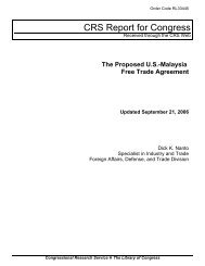 The Proposed U.S.-Malaysia Free Trade Agreement - Foreign Press ...