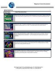 Megatouch Game Descriptions MEGATOUCH XL