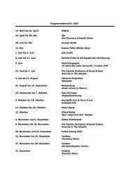 Programmübersicht 2007 23. März bis 22. April ENNIO 24. April bis ...