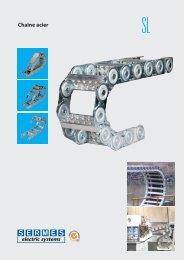 Chaines porte-câbles - série SL - SERMES