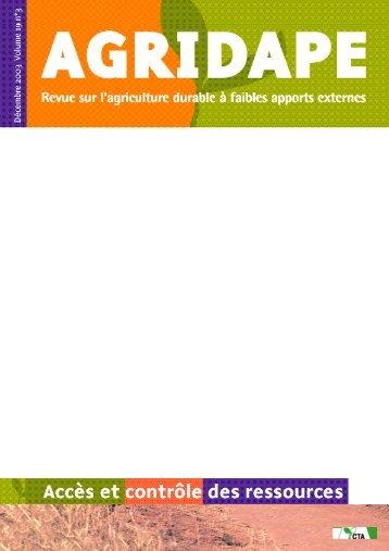 Décembre 2003 - Volume 19, n°3 - IED afrique
