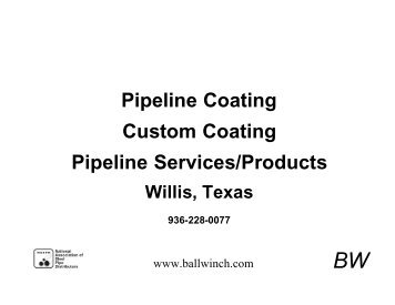 Member Spotlight, Luther Winch, BALL WINCH Pipeline ... - NASPD