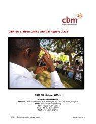 CBM EU Liaison Office Annual Report 2011 - Australian Disability ...