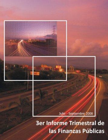 2008 Informe de finanzas públicas 3er Trimestre - Gobierno del ...