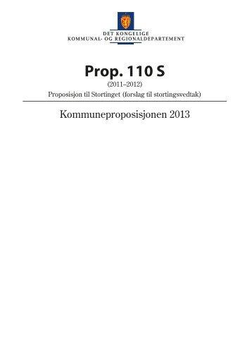 Prop. 110 S - Statsbudsjettet