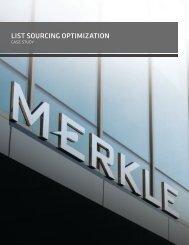 List Sourcing Optimization (LSO) - Merkle