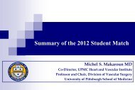 Summary of the 2012 Student Match - VascularWeb