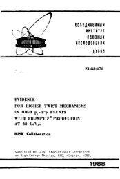 OfibBAMHBHHblM MHCTMTYT HAepHblX 1988 - JINR