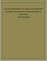 eoi for appointment of agency for operating e-district ... - Ghaziabad