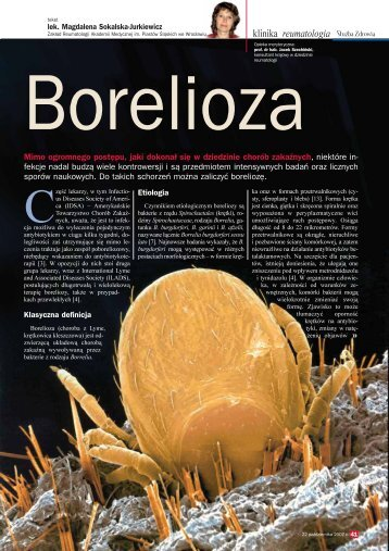 Borelioza- tekst lek. Magdalena Sokalska-Jurkiewicz