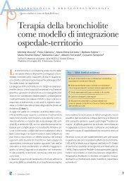 Terapia della bronchiolite come modello di integrazione ospedale ...