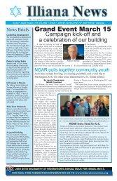 The Jewish Community Newspaper of Northwest Indiana