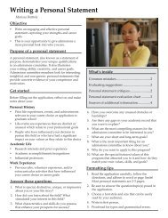 Writing a Personal Statement - The Career Center