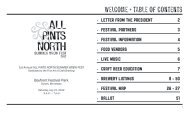 Welcome + table of contents - Minnesota Craft Brewer's Guild