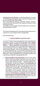… BeziehungsWeise Psychotherapie - DGVT - Seite 5
