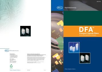 DFA™ Compact Capsule Filters for the ... - Pall Corporation