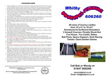 Colour Brochure.pub - Whitby Bouncy Castle Hire