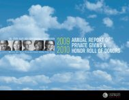 2009-2010 Annual Report of Private Giving & Honor Roll of Donors