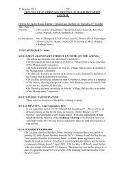 Minutes - Harbury Parish Council