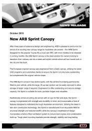 New ARB Sprint Canopy