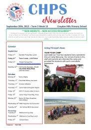 Newsletter Term 3 Week 10 - Croydon Hills Primary School