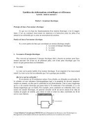 Synthèse des informations scientifiques et références - Pistes