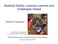 Seafood Safety: Lessons Learned and Challenges Ahead