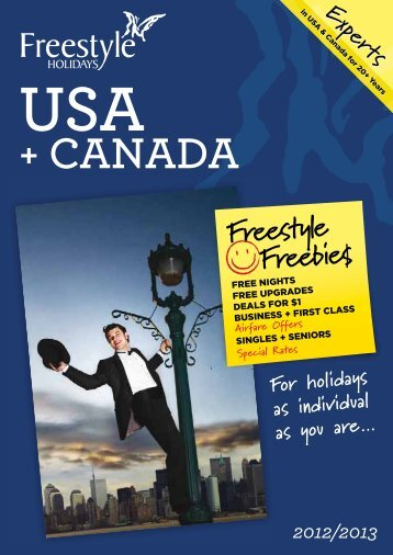 USA + CANADA For holidays as individual as you ... - Services Home