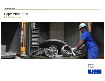 September 2012 - The Weir Group