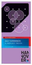 31.05. bis 18.08.2013: Daily Experiences: Flyer - Incontri - Institut für ...