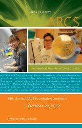 2012-2013 First Year Fellows - Seattle ARCS Foundation