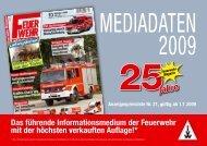 FM Mediadaten 2009 - Feuerwehr-Magazin