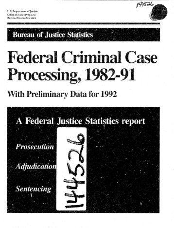 BJS bulletins & special reports - Bureau of Justice Statistics