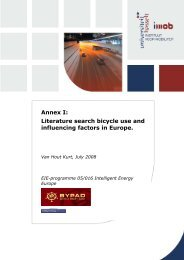 Annex I: Literature search bicycle use and influencing ... - ByPAD