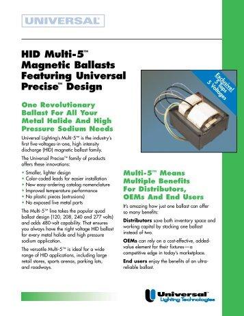 201273 01MTA121 HID Multi-5 Mag - Universal Lighting Technologies