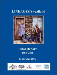 LINKAGES/Swaziland Final Report - Linkages Project