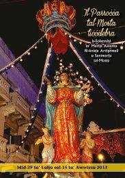 Programm Festa S. Marija 2013