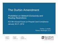 The Durbin Amendment - Davis Wright Tremaine