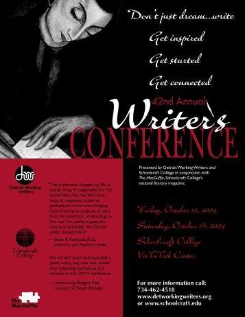 Writer's Conference registration booklet final.indd - Northville District ...
