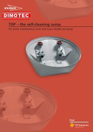 TOP – the self-cleaning sump - Dimotec
