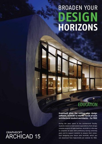 ArchiCAD 15 Education brochure - Graphisoft