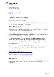 Communiqué de presse du 18 juillet 2011 Clôture de l ... - Bike to work