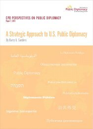 CPD Perspectives - USC Center on Public Diplomacy