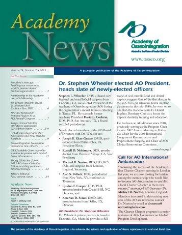 AO News 2402 - Academy of Osseointegration