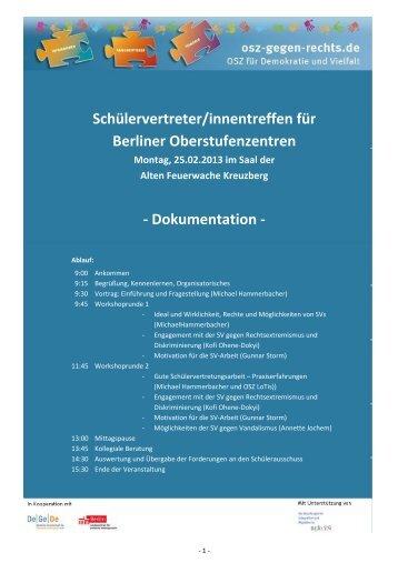 Schülervertreter/innentreffen für Berliner Oberstufenzentren ...