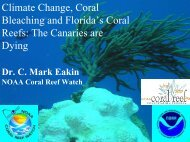 Climate Change, Coral Bleaching and Florida's Coral Reefs: The ...