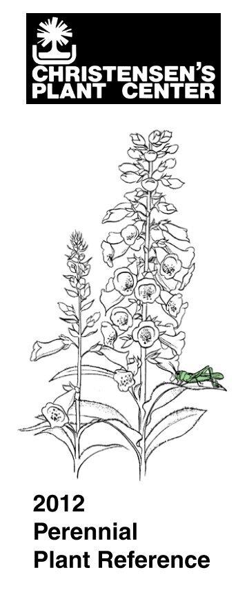 2012 Perennial Plant Reference - Christensen's Plant Center